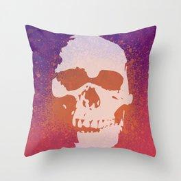 Skully Splatter Throw Pillow