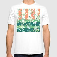 Fan Palm - Rincon MEDIUM White Mens Fitted Tee
