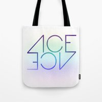 ace Tote Bags featuring Ace Ace by Covered In Moons