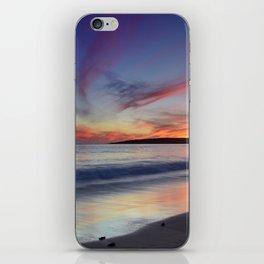 """Bolonia beach at sunset"" iPhone Skin"