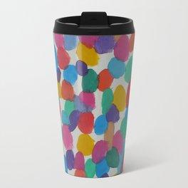 Rainbow Dots Abstract Watercolor Art Travel Mug