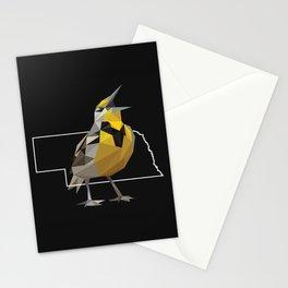 Nebraska – Western Meadowlark (Black) Stationery Cards