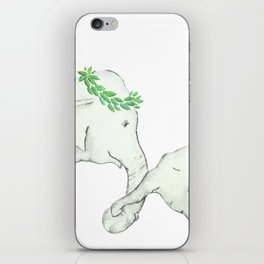 Elephant Mother and Baby Watercolor Neutral iPhone Skin