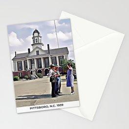 Courthouse, Pittsboro, North Carolina (1939) Stationery Cards