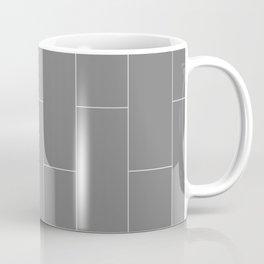 Deep Gray Subway Tile Coffee Mug