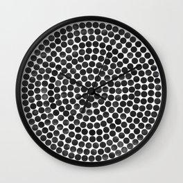 mandala black Wall Clock