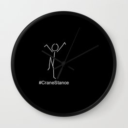 Crane Stance Wall Clock