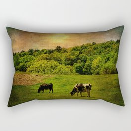 Cows in the Field Rectangular Pillow