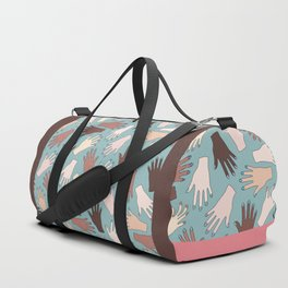 Nail Expert Studio - Colorful Manicured Hands Pattern Duffle Bag