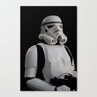 stormtrooper Canvas Prints featuring Stormtrooper by Pixel Villain