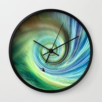 surf Wall Clocks featuring Surf by  Agostino Lo Coco