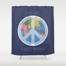 Future Peace Maker Shower Curtain