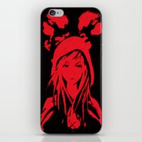 red riding hood iPhone & iPod Skins featuring Miss Red riding hood  by Sammycrafts