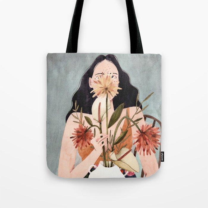 Hilda with vase Tote Bag