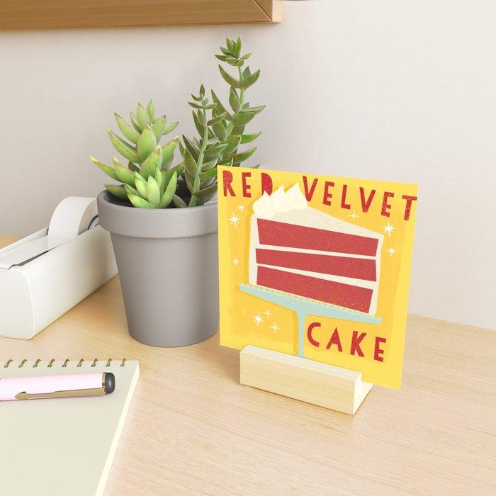 All American Classic Red Velvet Cake Mini Art Print