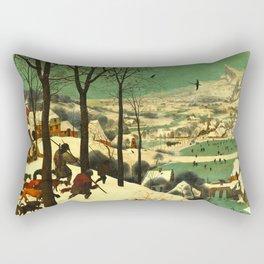 """Pieter Bruegel (also Brueghel or Breughel) the Elder """"Hunters in the Snow (Winter)"""" Rectangular Pillow"""