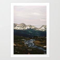 Whistler Mountain View, British Columbia Art Print