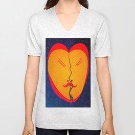 Happy Heart Unisex V-Neck
