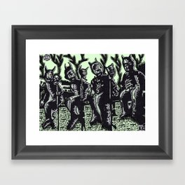 CREEPY KIDS Framed Art Print