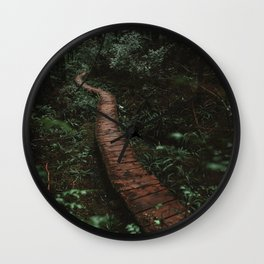 Olympic National Park Forest Trail Wall Clock