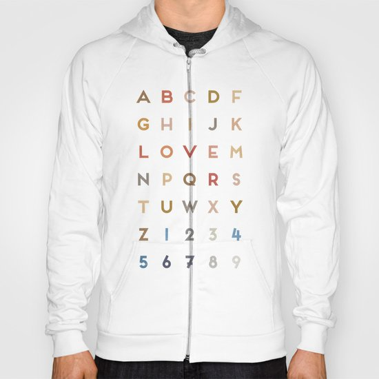 Letter Love - Color Hoody