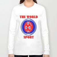 soccer Long Sleeve T-shirts featuring SOCCER  by Robleedesigns