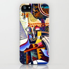 Joan Miro Horse, Pipe and Red Flower iPhone Case