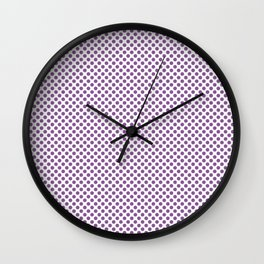 Dewberry Polka Dots Wall Clock