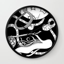 Out in Space Wall Clock