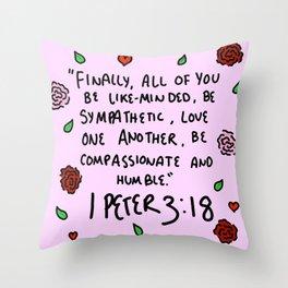 1 Peter 3:18 Throw Pillow