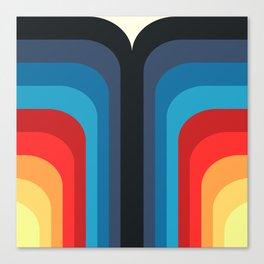 Retro Rainbow 01 Canvas Print