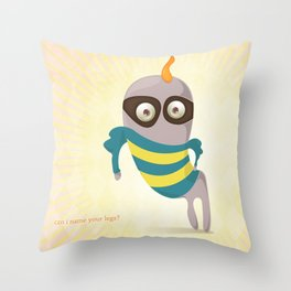 Can I name your legs? Throw Pillow