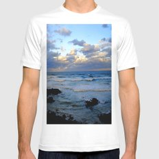 CoffsHarbour Mens Fitted Tee White MEDIUM