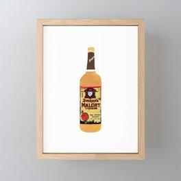 Malort - Chicago Art - Chicago Bottle Drawing Framed Mini Art Print