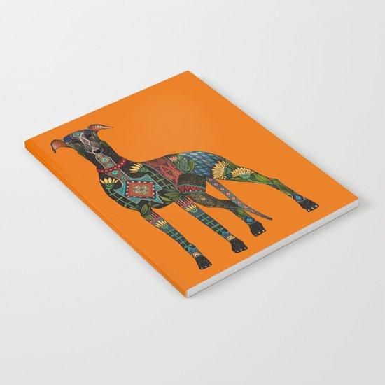 greyhound orange Notebook