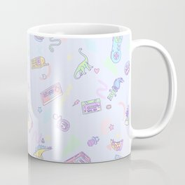 Retro Girl (Blue) Coffee Mug