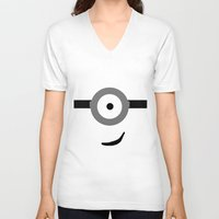 minions V-neck T-shirts featuring Minions Banana? by ZenthDesigns