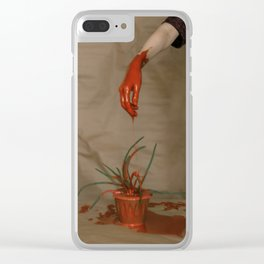 Rootless. Red hand Clear iPhone Case