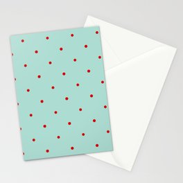 Blue with Red Dots Stationery Cards