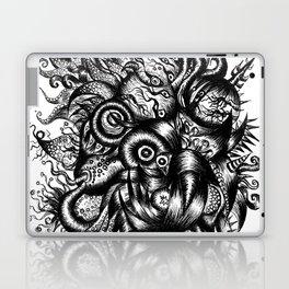 Spaceship Girl_Black Laptop & iPad Skin