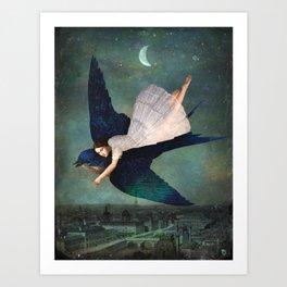 fly me to paris Art Print