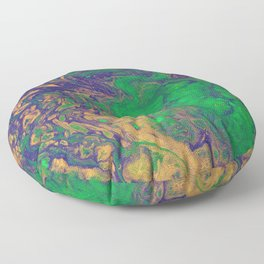 Mardi Gras Acrylic Pour Floor Pillow