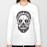 calavera Long Sleeve T-shirts featuring Calavera by Sofia Bolona