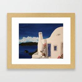Greece Getaway  Framed Art Print