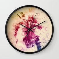 assassins creed Wall Clocks featuring Assassins Creed III by Robert William Smith