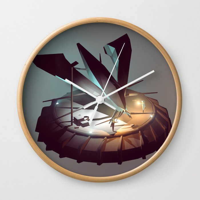 Lift Off Wall Clock By Artenvelope