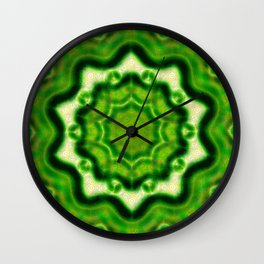 WOOD Element kaleido pattern Wall Clock