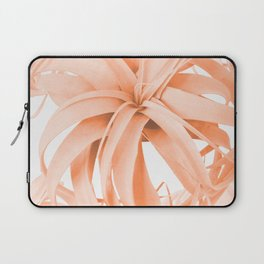 Coral Color Air Plant White Background #decor #society6 #buyart Laptop Sleeve