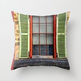 Window Shutters Throw Pillow