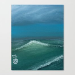 Lonely Waves Canvas Print